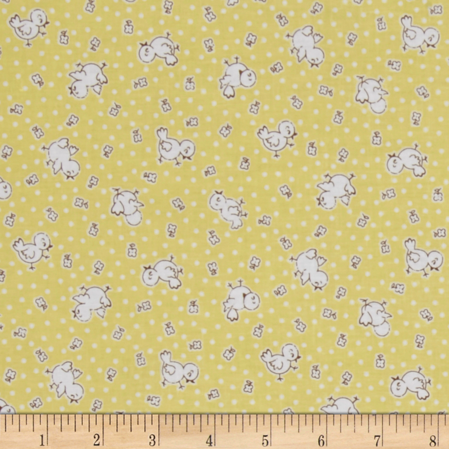 Penny Rose Apple Farm Chickadee Yellow Fabric by Christensen in USA