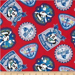 Disney Captain Mickey Badges Red