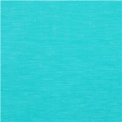 European Linen/Silk Blend Satin Aqua