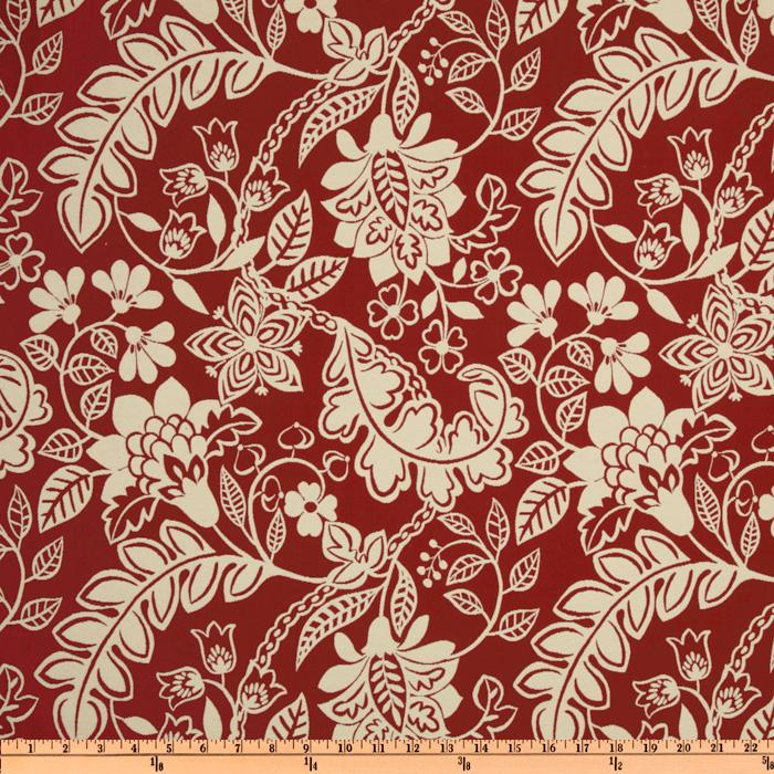 Waverly Garden Flurry Jacquard Poppy