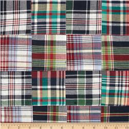 Madras Plaid Patchwork Wine/Green/Navy/White