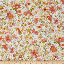 London Calling Lawn Medium Floral Peach