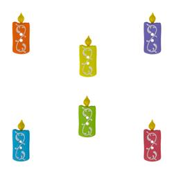 Dress It Up Embellishment Buttons  Birthday Candles