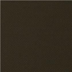 Stretch Nylon Performance Pique Knit Dark Brown Fabric