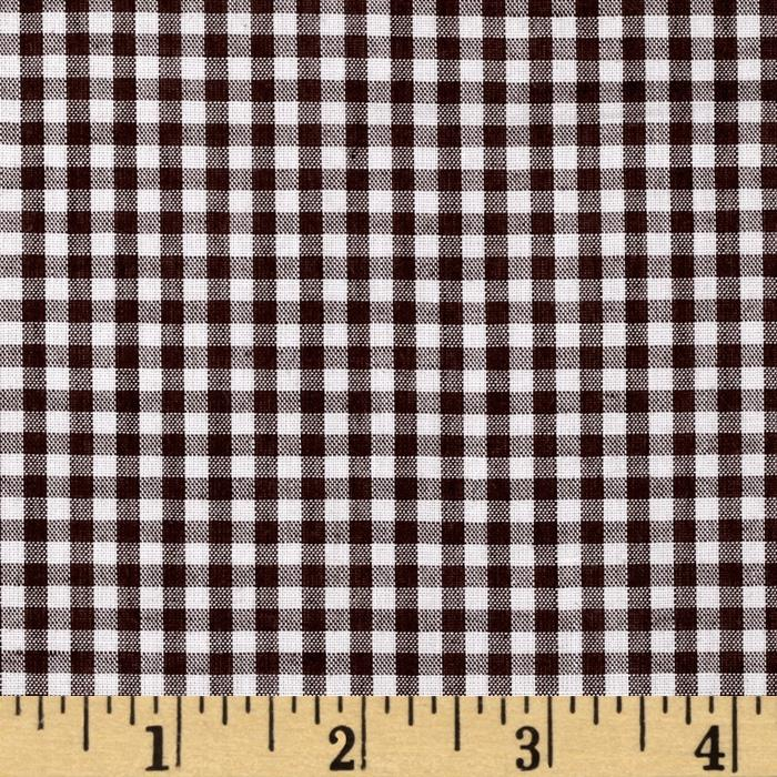 Woven 1/8'' Gingham Brown