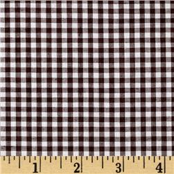 Woven 1/8'' Gingham Brown Fabric