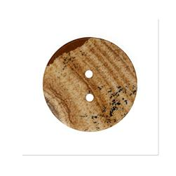 Precious Elements Stone Felsic Sandstone Button 1 1/4'' Beige