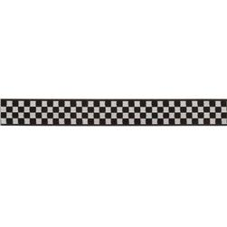5/8'' Ribbon Checkerboard Black/White