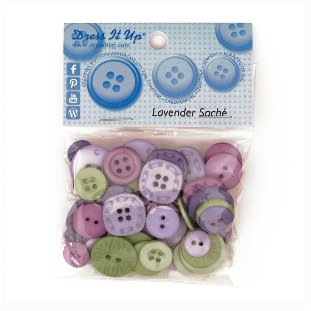 Dress It Up Color Me Collection Buttons Lavendar Sache