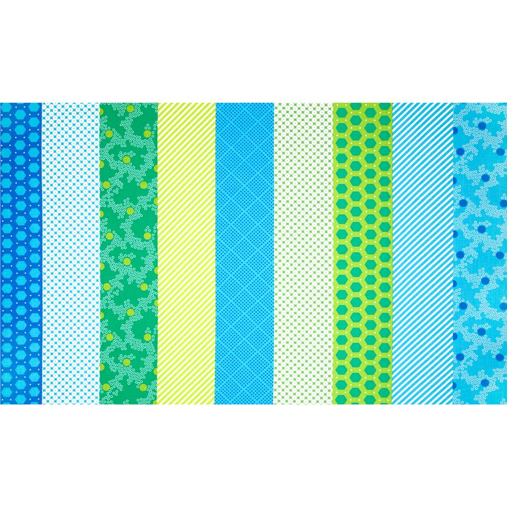 Dots Right Strip It Green/Blue