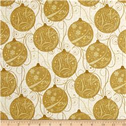 Sparkle Metallic Ornaments Gold