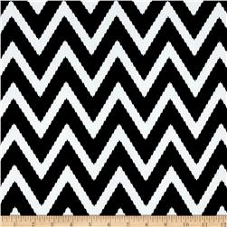 ITY Jersey Knit Zig Zag Black White