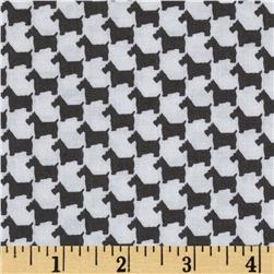 Michael Miller Scottie Houndstooth Grey