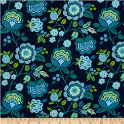 Intrigue Floral Garden Turquoise/Teal