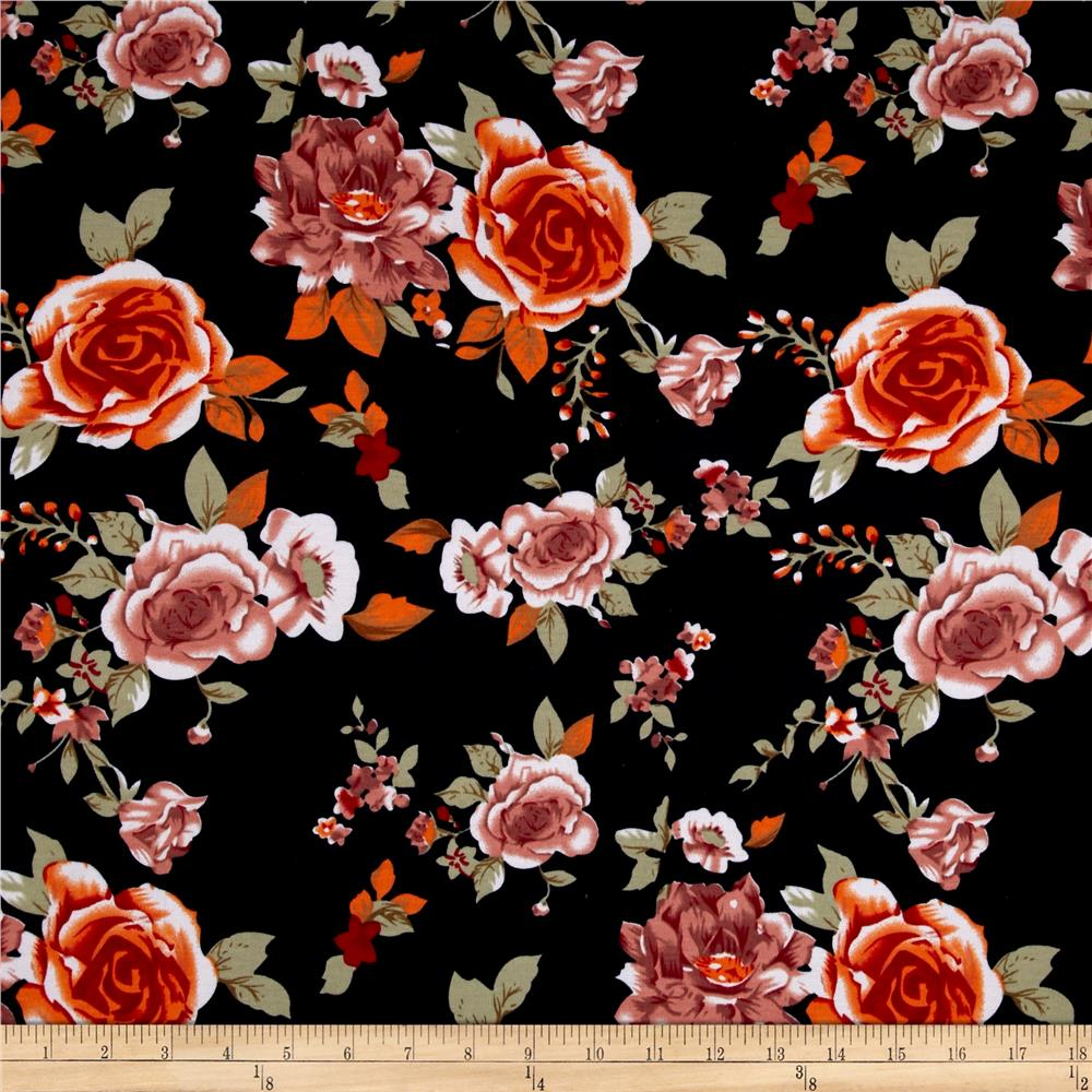 Ponte De Roma Floral Prints Navy/Orange/Ivory