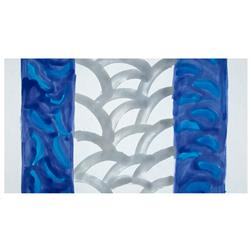 Bali Brushstroke Batiks Scallop Double Border Hyacinth