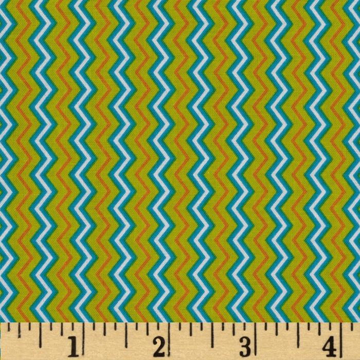 Let It Rain Chevron Stripe Chart Teal