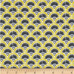 Michael Miller Pastel Pop Citron Gray Flannel Fannie