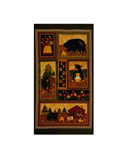 "Bear Paws Bear Paws 23.5"" Panel Multi"