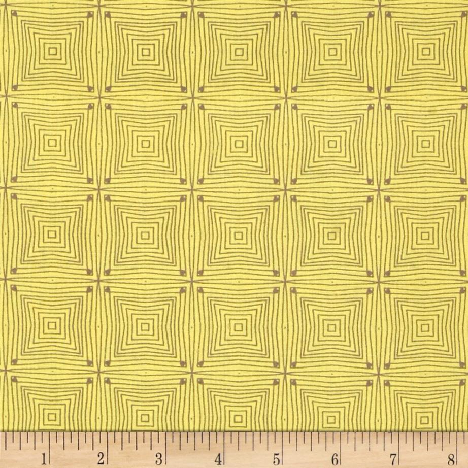 Market Road Square Lines Taupe/Mustard