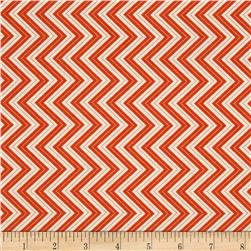 Moda Wrens & Friends Chevron Tangerine