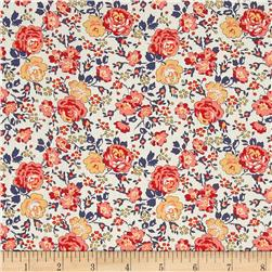 Liberty of London Classic Tana Lawn Felicite Roses Peach/Yellow/Ivory