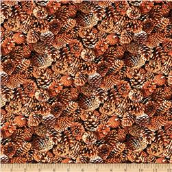 North American Wildlife Pinecones Brown