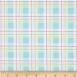 Tanya Whelan Zoey's Garden Faux Plaid Blue