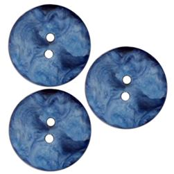 Fashion Button 3/4'' Melting Pot Blue