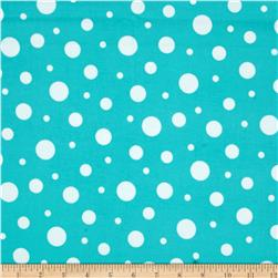 Kaufman Cozy Cotton Flannel Random Dots Jade