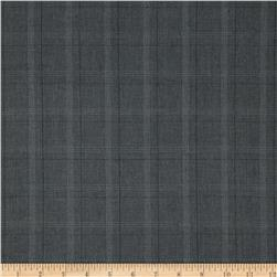 Stretch Suiting Plaid Dark Grey