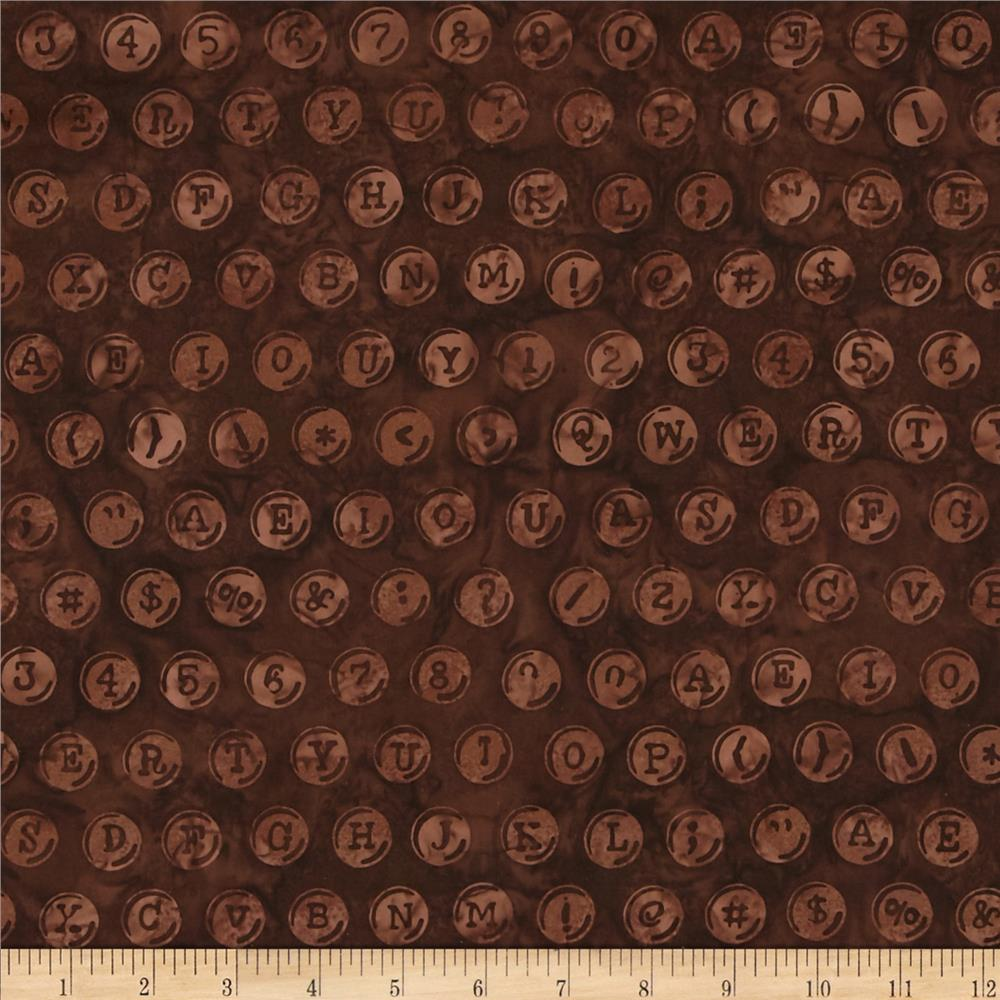 Bali Batiks Handpaints Keyboard Brown