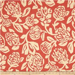 Robert Allen @ Home Cutwork Floral Coral Fabric