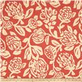 Robert Allen @ Home Cutwork Floral Coral