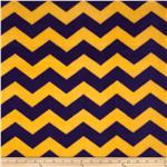 Chevron Fleece Purple/Yellow