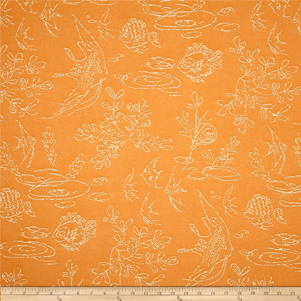 Covington Embroidered Gone Fishing Tangerine