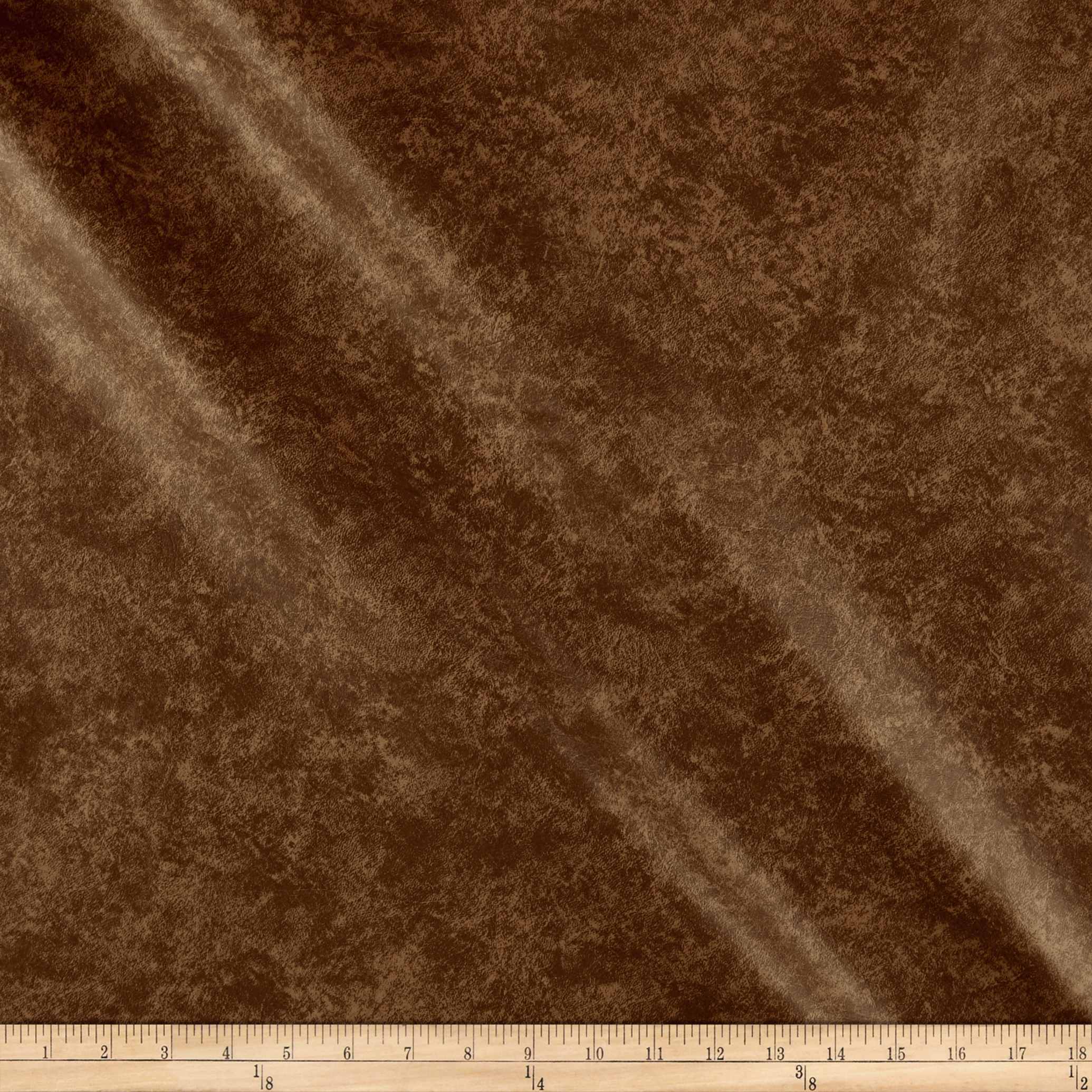 Faux Leather Buffalo Camel Print Fabric by Plastex in USA