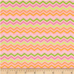 Moda Brighten Up! Chevron Up Pink