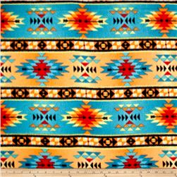 Tribal Style Tribal Stripe Fleece Turquoise/Orange