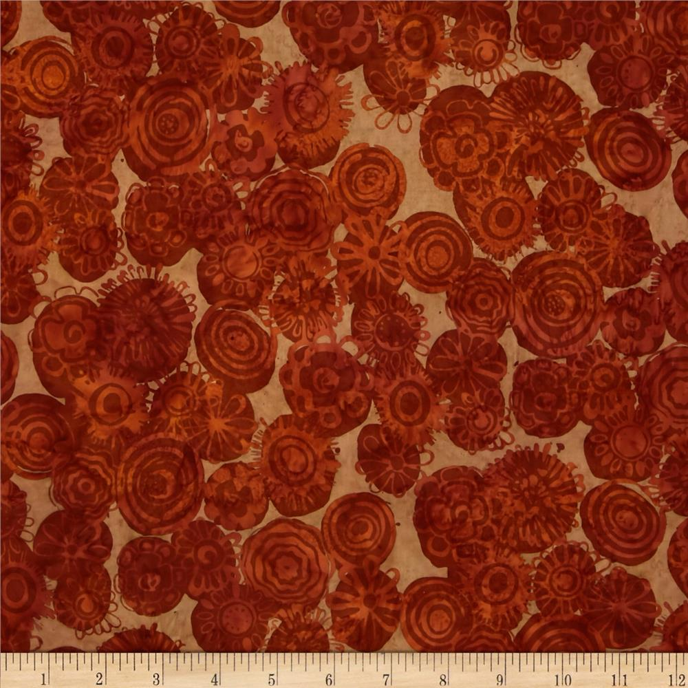 Bali Batiks Handpaints Graphic Floral Adobe