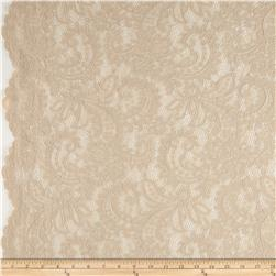 Amelia Stretch Lace Tan