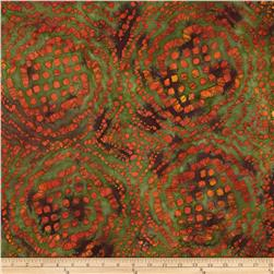 Indian Batiks Abstract Bright Orange Fabric