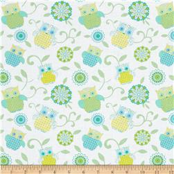 Contempo Owls And Pals Owl Medallion Light Green/Multi