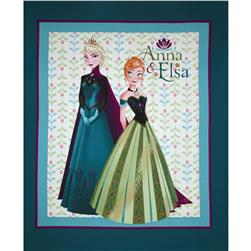 Disney Frozen Anna & Elsa 36'' Panel Green