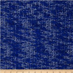 Designer Boucle Sweater Knit Royal Blue Fabric