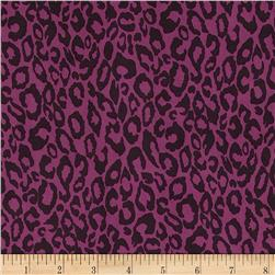 Stretch ITY Jersey Knit Cheetah Purple
