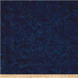 Timeless Treasure Batik Tonga Gypsy Block Geo Navy