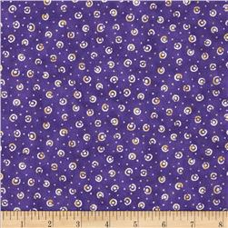 Shangri-La Tossed Dots Purple