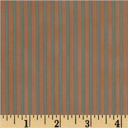 Graphix Stripes Peach Light Blue Fabric