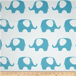 RCA Elephant Blackout Drapery Fabric Capri Blue